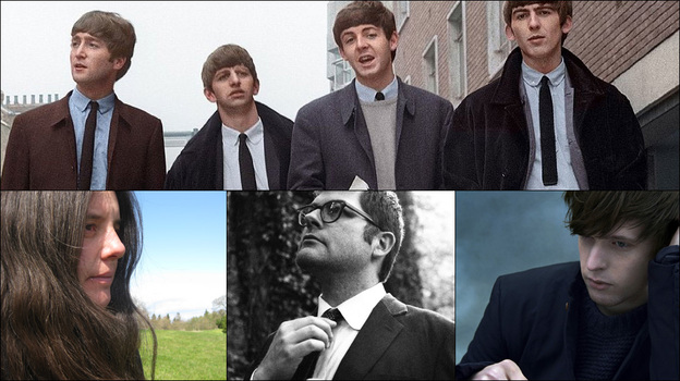 Clockwise from top: The Beatles, James Blake, Colin Meloy, Marisa Anderson (Courtesy of the artists)