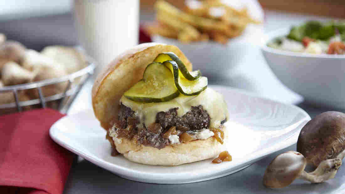 Richard Blais' Earth & Turf Burger, served at the Flip Burger Boutique in Atlanta, is 50 percent beef, 50 percent mushroom.