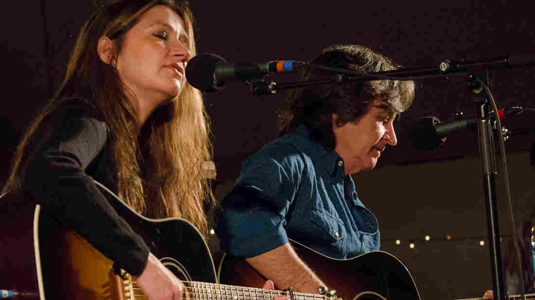 Matraca Berg performs live on Mountain Stage with her husband, Jeff Hanna of the Nitty Gritty Dirt Band.