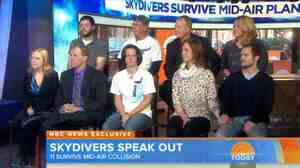 On Tuesday's The Today Show, nine skydivers who had a very close call over Wisconsin talked about the collision of their planes.