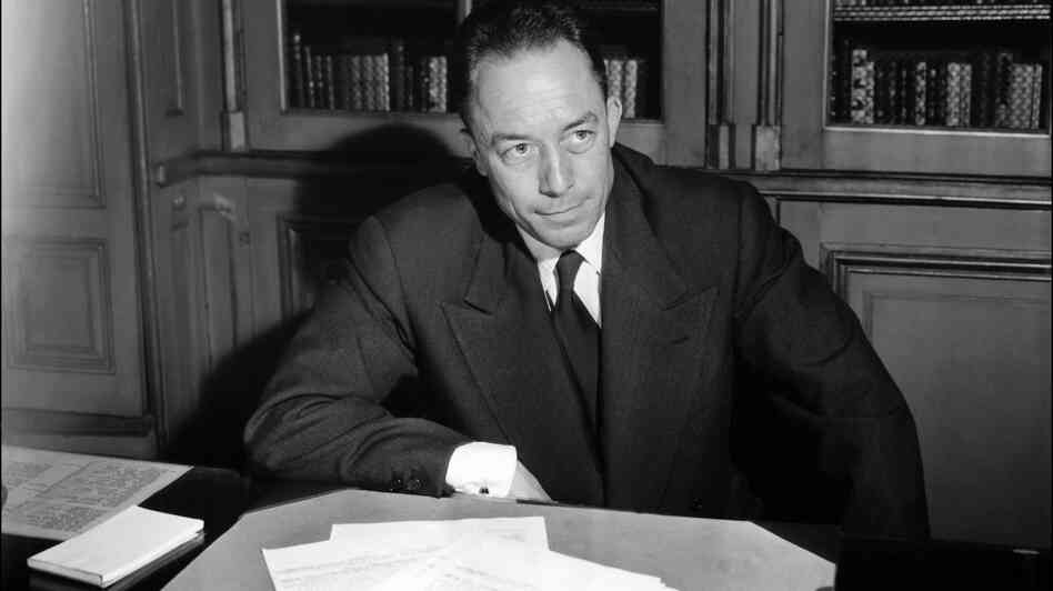 Algeria-born Albert Camus poses for a portrait in Paris following the announcement that he is being awarded the Nobel Prize for literature in 1957. Camus' views on his birthplace still stoke contro
