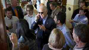 The vice president, who was on the presidential campaign trail last year in Florida, spent Tuesday calling winning candidates across the country.