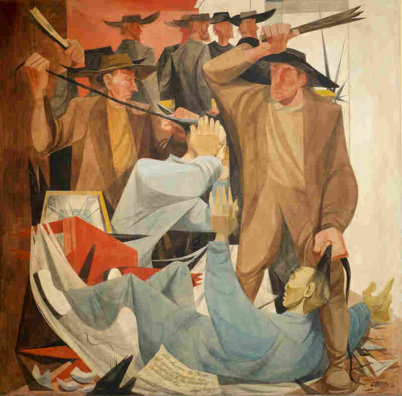 Anton Refregier's Beating the Chinese is a panel in the History of San Francisco mural at the city's Rincon Center. Chinese immigrants were frequent targets of hoodlums in the late 19th century.