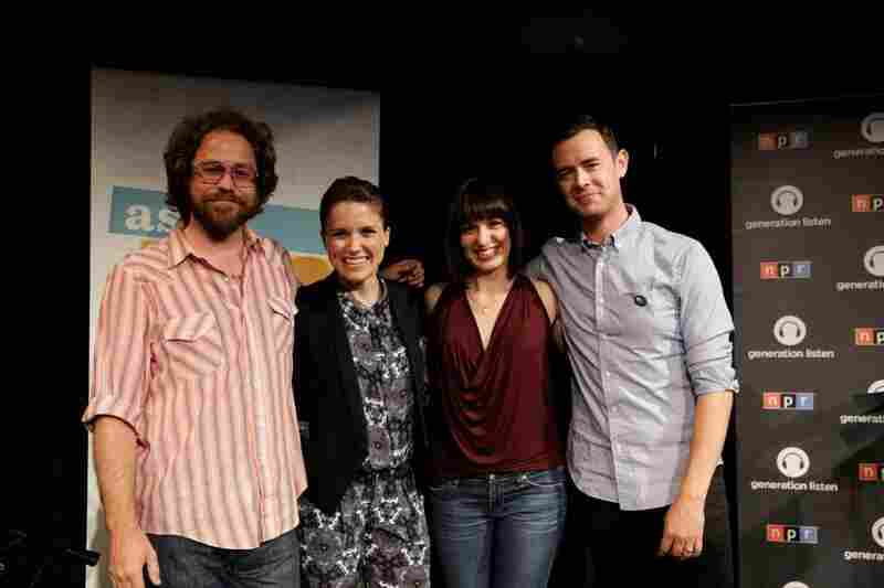 Photos from the Generation Listen Ask Me Another listening party with KCRW and KPCC, hosted by Sophia Bush and Colin Hanks.