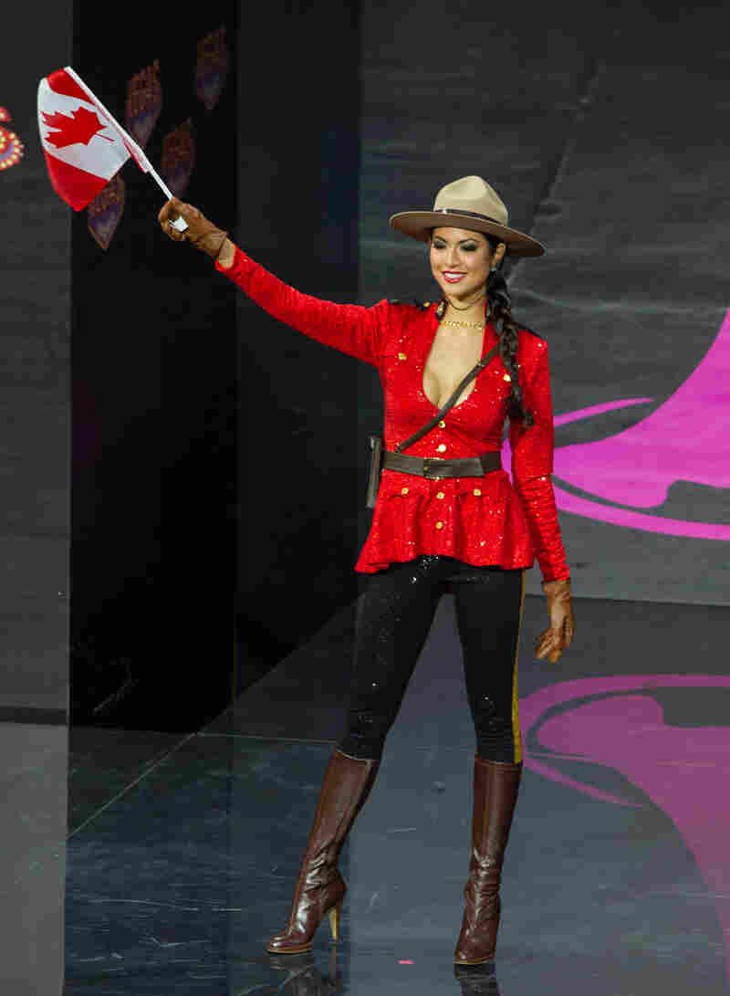 """""""Canada is out of ideas. Canada forfeits."""" (Miss Canada: Riza Santos)"""