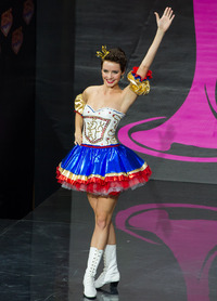 I am not kidding when I say I'm pretty sure Sandra Bullock wore this in Miss Congeniality. (Miss Czech Republic: Gabriela Kratochvílova)