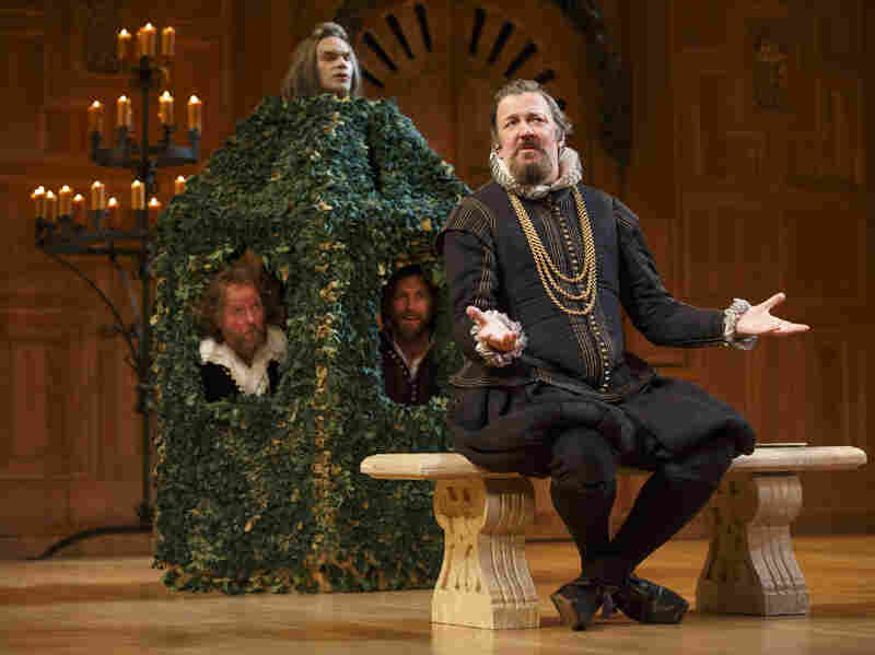 In his first-ever Broadway performance, Stephen Fry (right) plays the mistreated steward Malvolio in Twelfth Night.