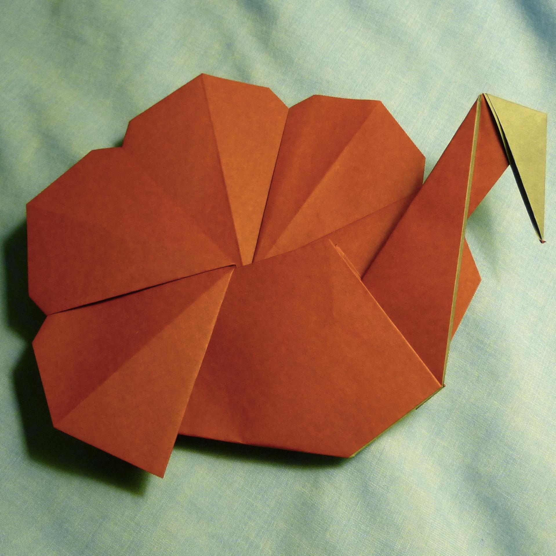 Origami turkey.