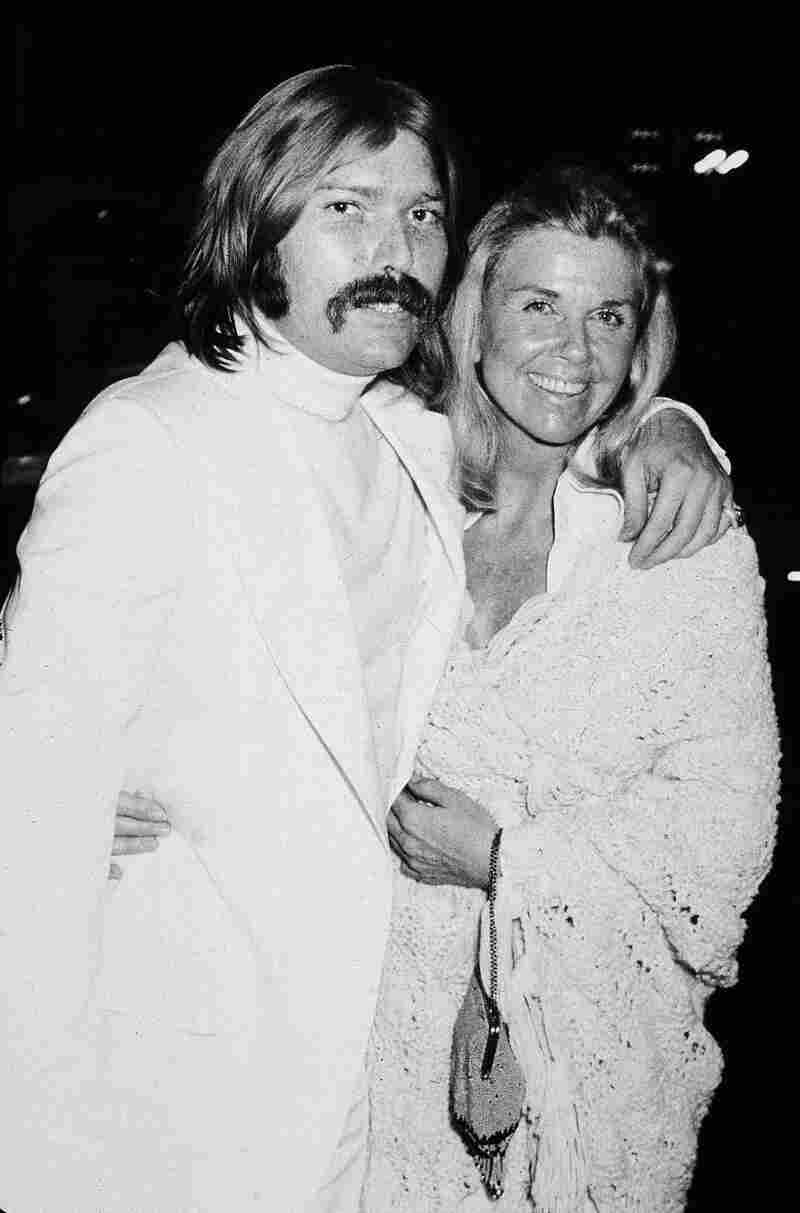 Day poses with her son, producer and songwriter Terry Melcher, in the early 1970s. Melcher also served as the executive producer of The Doris Day Show.