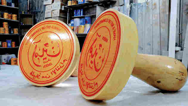 Abdulnasser Gharem's 3-foot tall stamps are larger-than-life interpretations of the bureaucratic seals he employs in his day job — as a lieutenant colonel in Saudi Arabia's army.