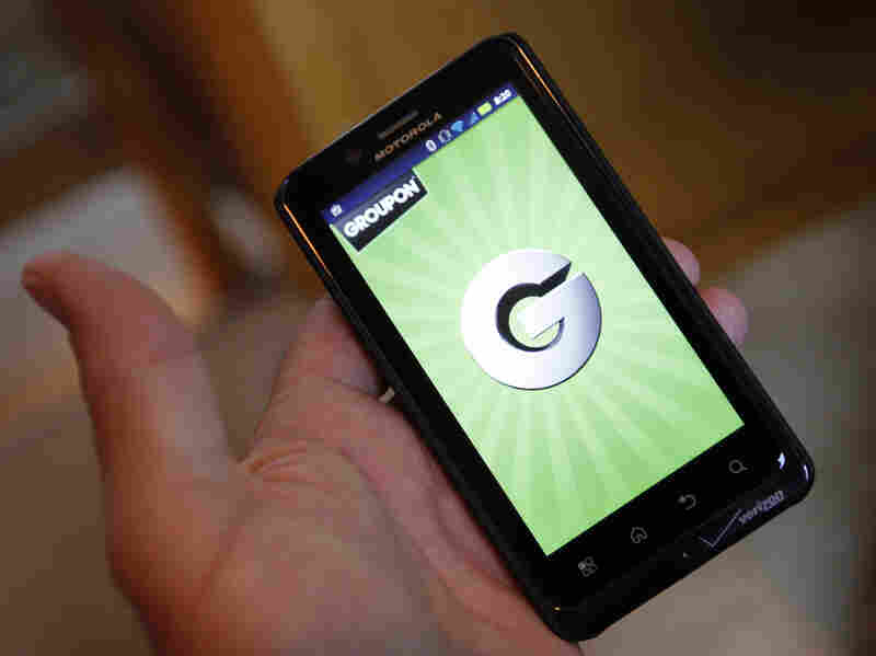 A Groupon smartphone app