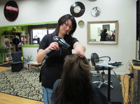 Hairdresser Lara Imler used to be an accountant. She doesn't miss her old job, except for the insurance.