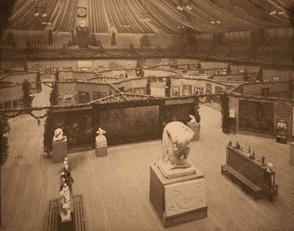"The 69th Regiment Armory on East 25th Street may have seemed like an odd venue, but it was big enough to hold the 1,400-work exhibition. ""There were lots of comparisons in 1913 of the Armory Show being a bomb from the blue, so the Armory is not inappropriate,"" says curator Kimberly Orcutt."