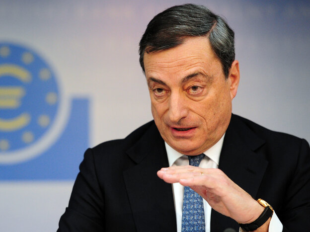 Mario Draghi, president of the European Central Bank. Some say he's super.