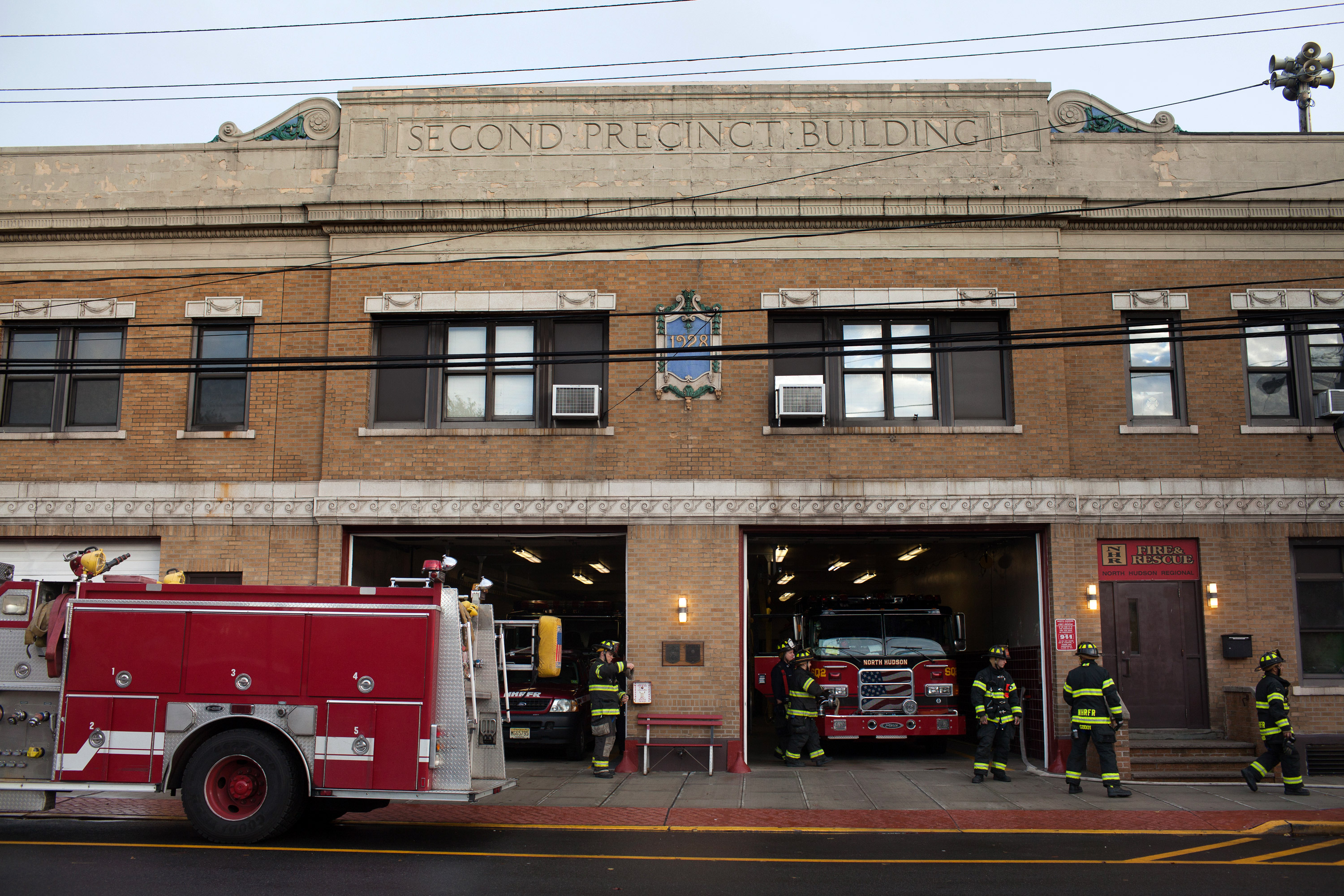 8dc2ee95418 A view of the exterior of the station. Battalion Chief Richard Hess says  many of the vets really needed the job.