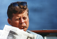 President John F. Kennedy aboard the