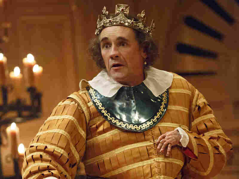 My kingdom for a horse: In the second play, Richard III, Rylance takes on the part of the ruthless monarch.