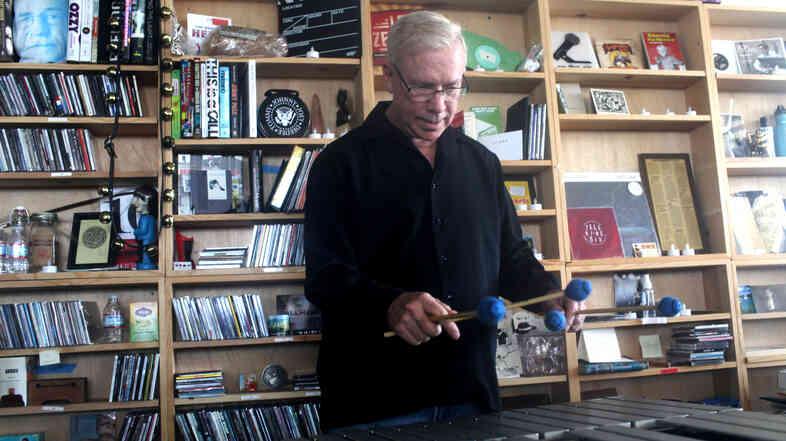 American jazz vibraphonist Gary Burton plays a Tiny Desk Concert on Sept. 13, 2013.