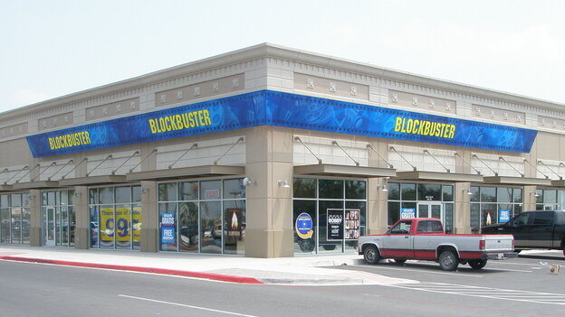This Blockbuster store in Mission, Texas, is franchised by Border Entertainment. The company has 26 stores across Texas and Alaska that will live on after the last 300 or so company-owned stores are closed by early January