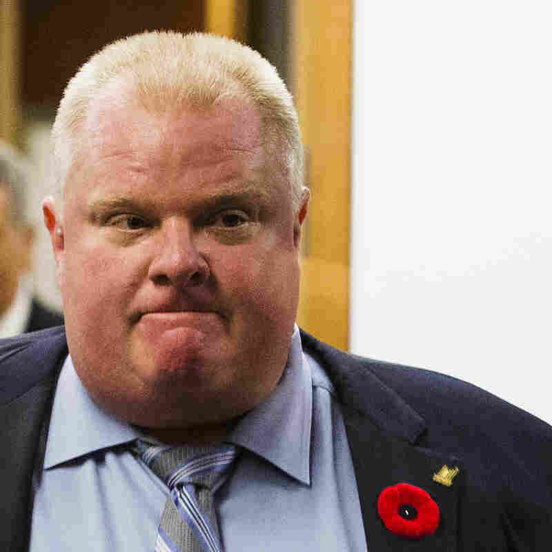 Toronto Mayor Rob Ford on Thursday.