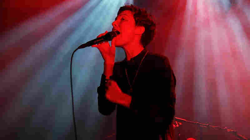 Polica, performing live at the 9:30 Club in Washington, D.C.