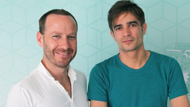 Metropolis host Jason Bentley and British producer Jon Hopkins.