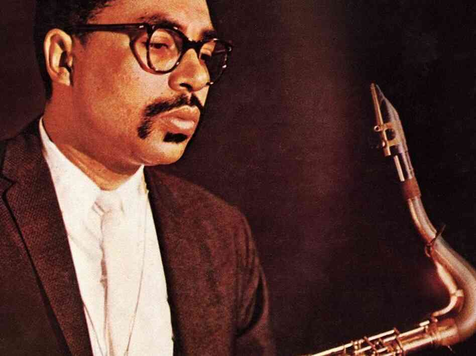 Booker Ervin on the cover of The Book Cooks, his debut album.