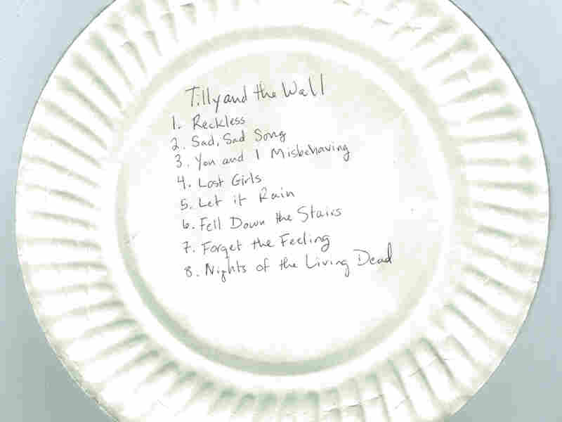 Tilly And The Wall at the 9:30 Club (Washington, D.C.), Jan. 29, 2005. This one, scribbled on a paper plate, was from the very first live webcast we ever did.