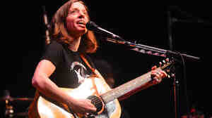 Ani DiFranco performing live on Mountain Stage.