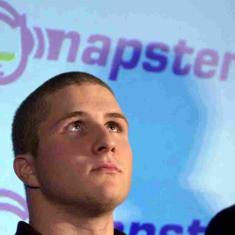 Napster founder Shawn Fanning in February 2001, after a ruling that the free Internet-based service must stop allowing copyrighted material to be shared.