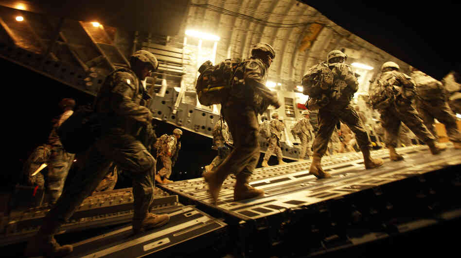 U.S. Army soldiers begin their journey home from Iraq on July 13, 2010.