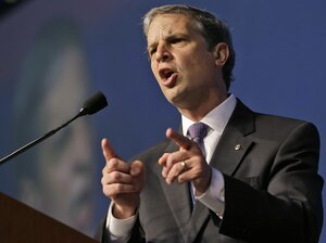 State Sen. Mark Obenshain speaks at the Virginia Republican convention in Richmond on May