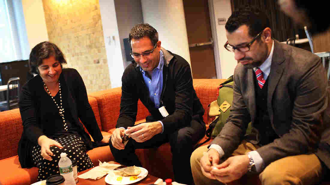 Yotam Ottolenghi and Sami Tamimi grab a quick breakfast with NPR's Madhulika Sikka. They stopped by NPR in October to talk food philosophy.