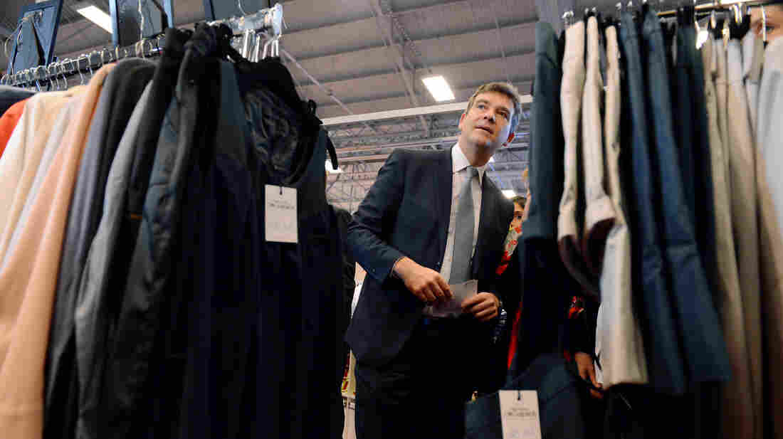 French Minister for Industrial Renewal Arnaud Montebourg attends the Made in France fair in Paris on Saturday. According to a poll, more than 70 percent of the French say they would pay more for goods made at home.