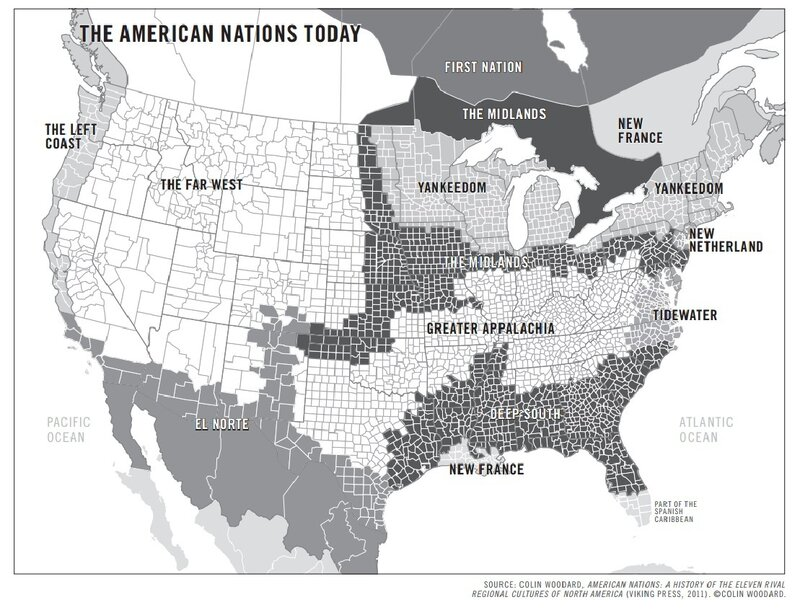 Map Of North America 50 States.Forget The 50 States The U S Is Really 11 Nations Author Says Npr