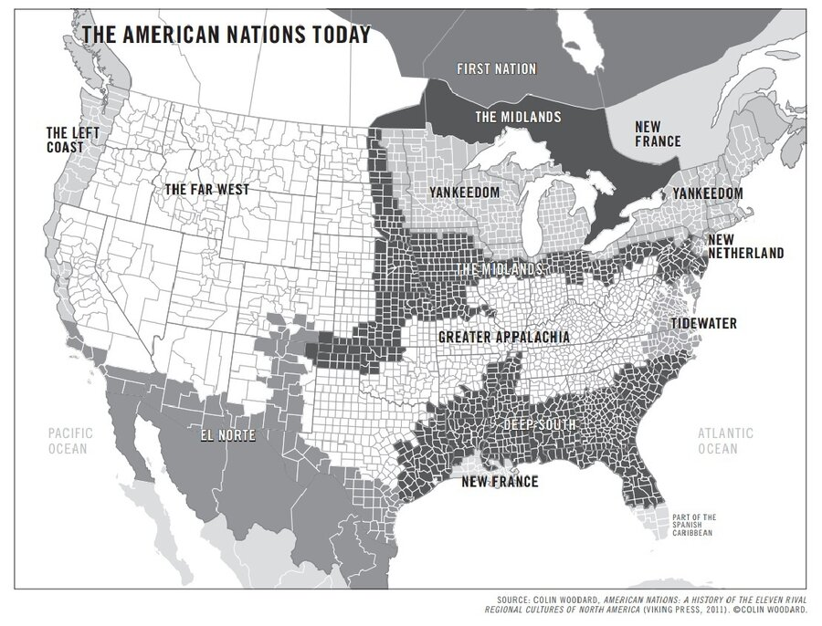 Forget The 50 States The US Is Really 11 Nations Author Says NPR