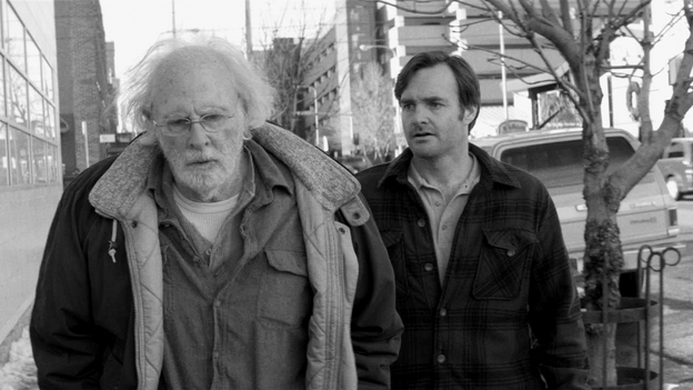 After receiving a dubious letter, the aging Woody (Bruce Dern) heads off on a quest to collect  $1 million, dragging his son David (Will Forte) along with him. (Paramount Pictures)