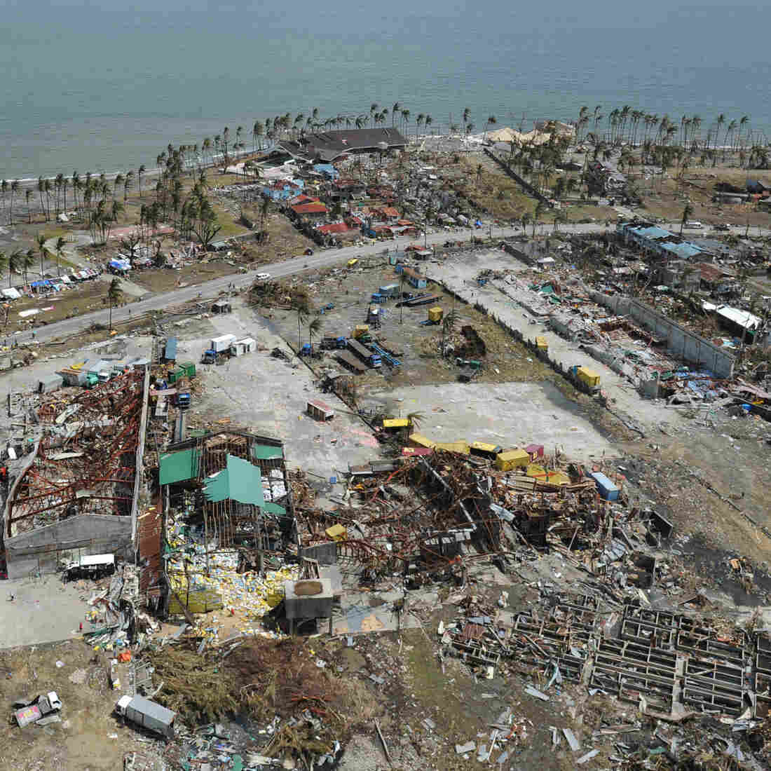 From the air, some of the devastation in the Philippines city of Tacloban.