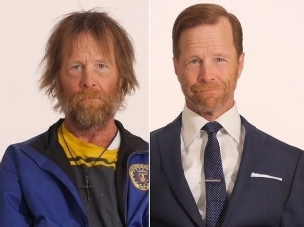 Jim Wolf of Grand Rapids, Mich. The Army veteran was transformed for a video that the maker hopes will convince people to look at the homeless differently.