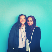 NPR Intern Amarra Ghani (r) and her supervisor, NPR's Michele Norris (r). (posted by @djamz)