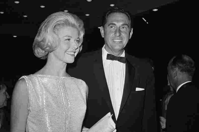 Day arrives with husband Marty Melcher for the 1960 Academy Awards ceremony. She was nominated in the best actress category that year for her role in Pillow Talk.