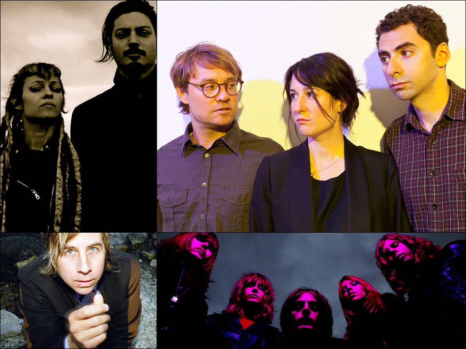 Clockwise from upper left: Ephel Duath, Hospitality, Toy, John Vanderslice