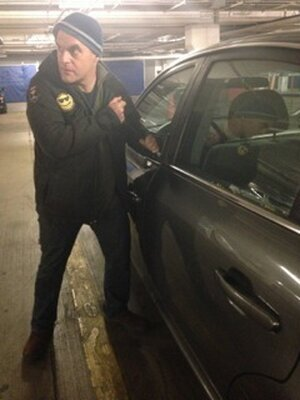 """Peter Sagal """"upgrading"""" from his Ford Fiesta."""
