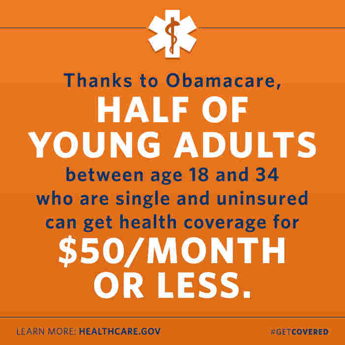A pitch from the White House touts the price of Obamacare at $50 a month or less.