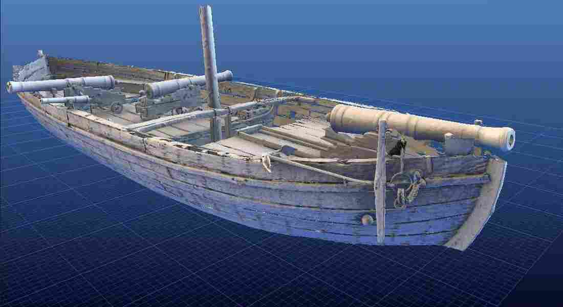 Even visitors to the National Museum of American History in Washington, D.C., can't see the Gunboat Philadelphia from every angle. But online, viewers can flip the boat in every possible direction using the Smithsonian Institution's new 3-D viewer.