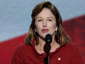 Sen. Kay Hagan of North Carolina speaks at the Democratic National Convention in Charlotte, N.C.