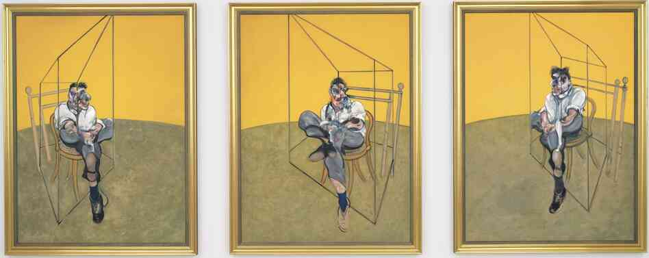 Francis Bacon's 1969 triptych Three Studies of Lucian Freud.