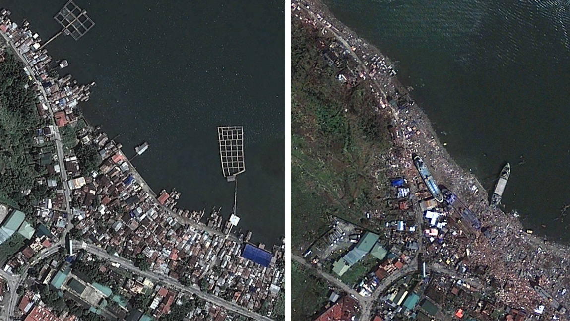 Images Of Tacloban: Before And After Typhoon Haiyan : The