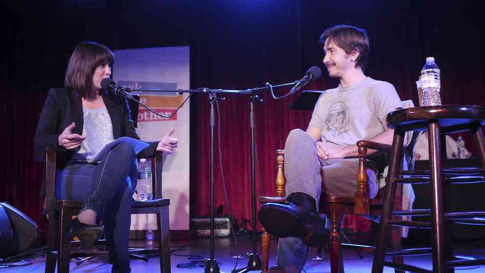 Ask Me Another host Ophira Eisenberg interviews actor Justin Long.