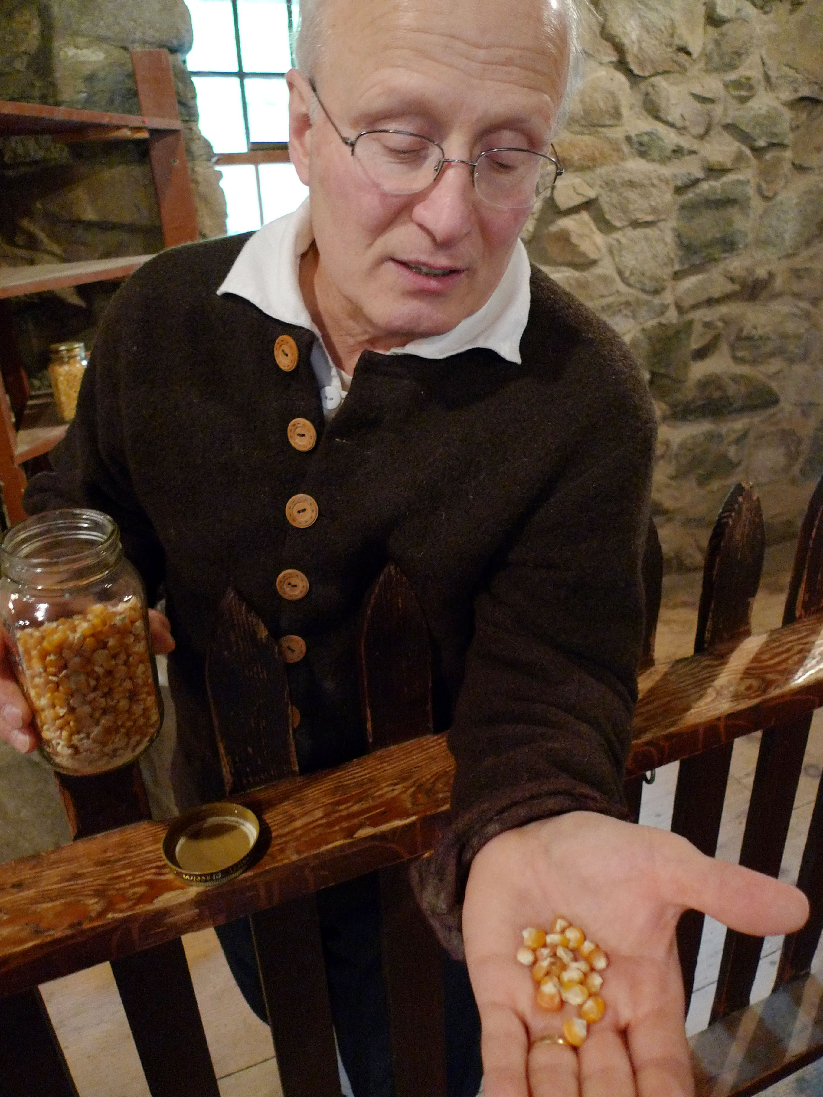 Miller Richard Gnatowski makes the cornmeal that the Wayside Inn uses in its Indian pudding.